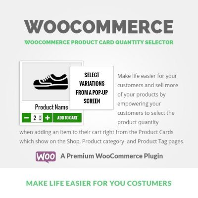WooCommerce Product Card Quantity Selector