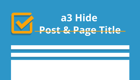 WordPress Hide Post and Page Title